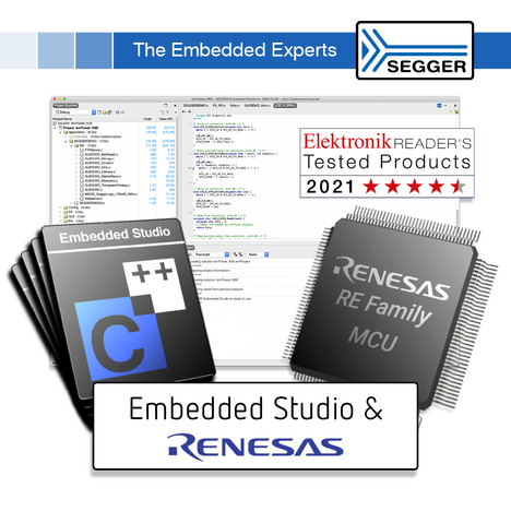 SEGGER Embedded Studio available for the Renesas RE Family of MCUs