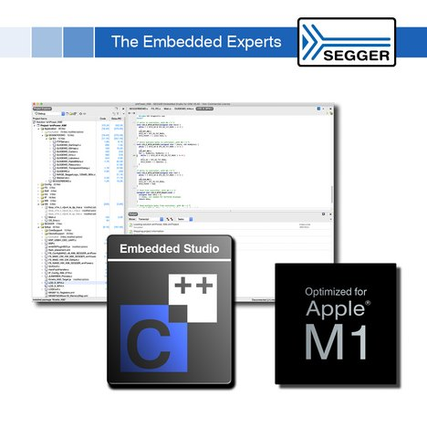 SEGGER announces Embedded Studio V5.4 for Apple M1