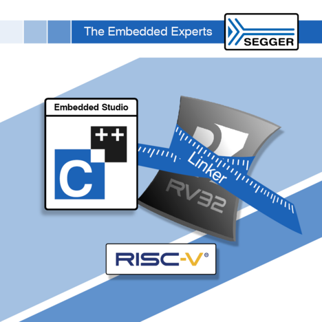 Embedded Studio has a great Linker for RISC-V development