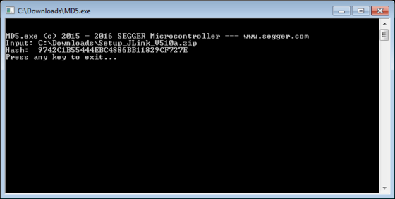 SEGGER Free Utilities - md5