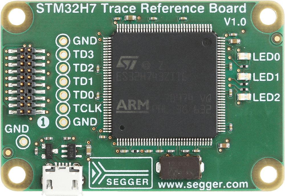 News: J-Trace PRO: New trace reference board STM32H7