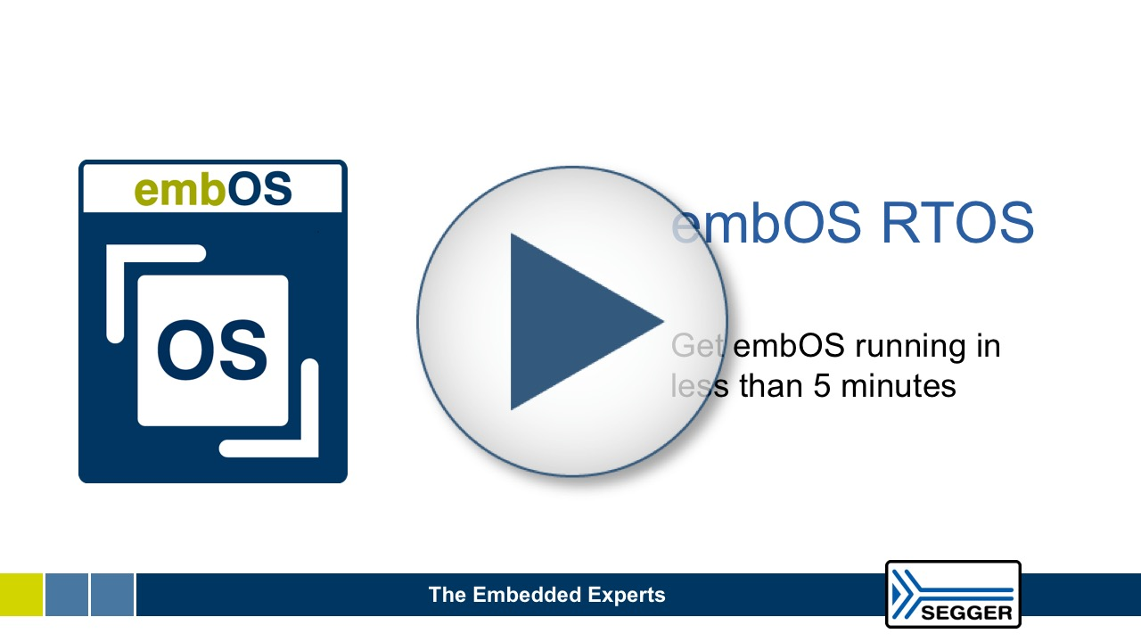 Start working with the real-time operating system embOS in less than 5 minutes!