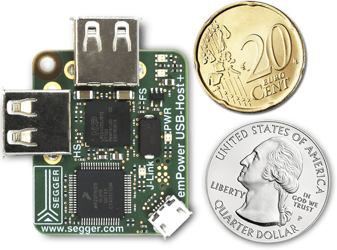 Micro-small yet power-packed emPower-USB-Host board