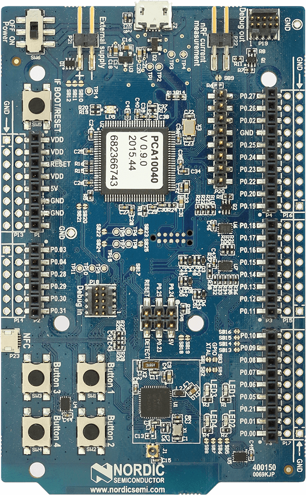 Nordic Semiconductor nrF52-DK | SEGGER - The Embedded Experts