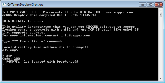 Dropbox Client | SEGGER - The Embedded Experts