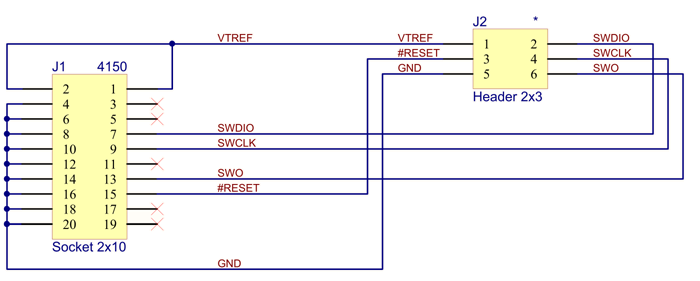 J-Link-6-Pin-Adapter-Schematic