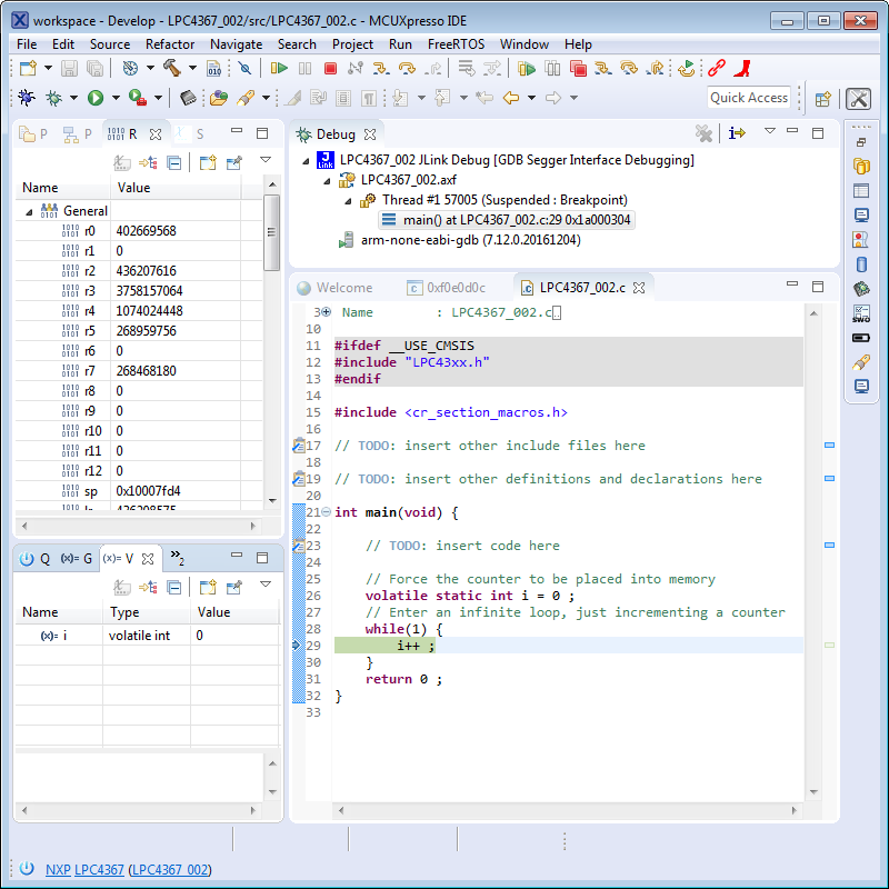 NXP MCUXpresso IDE Free Edition | The Embedded Experts