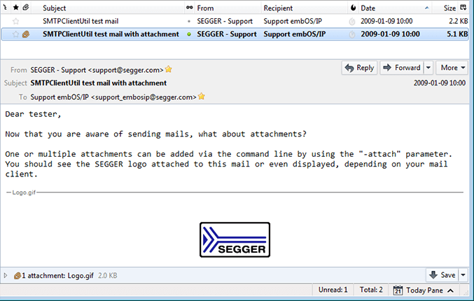SMTP Client Utility | SEGGER - The Embedded Experts