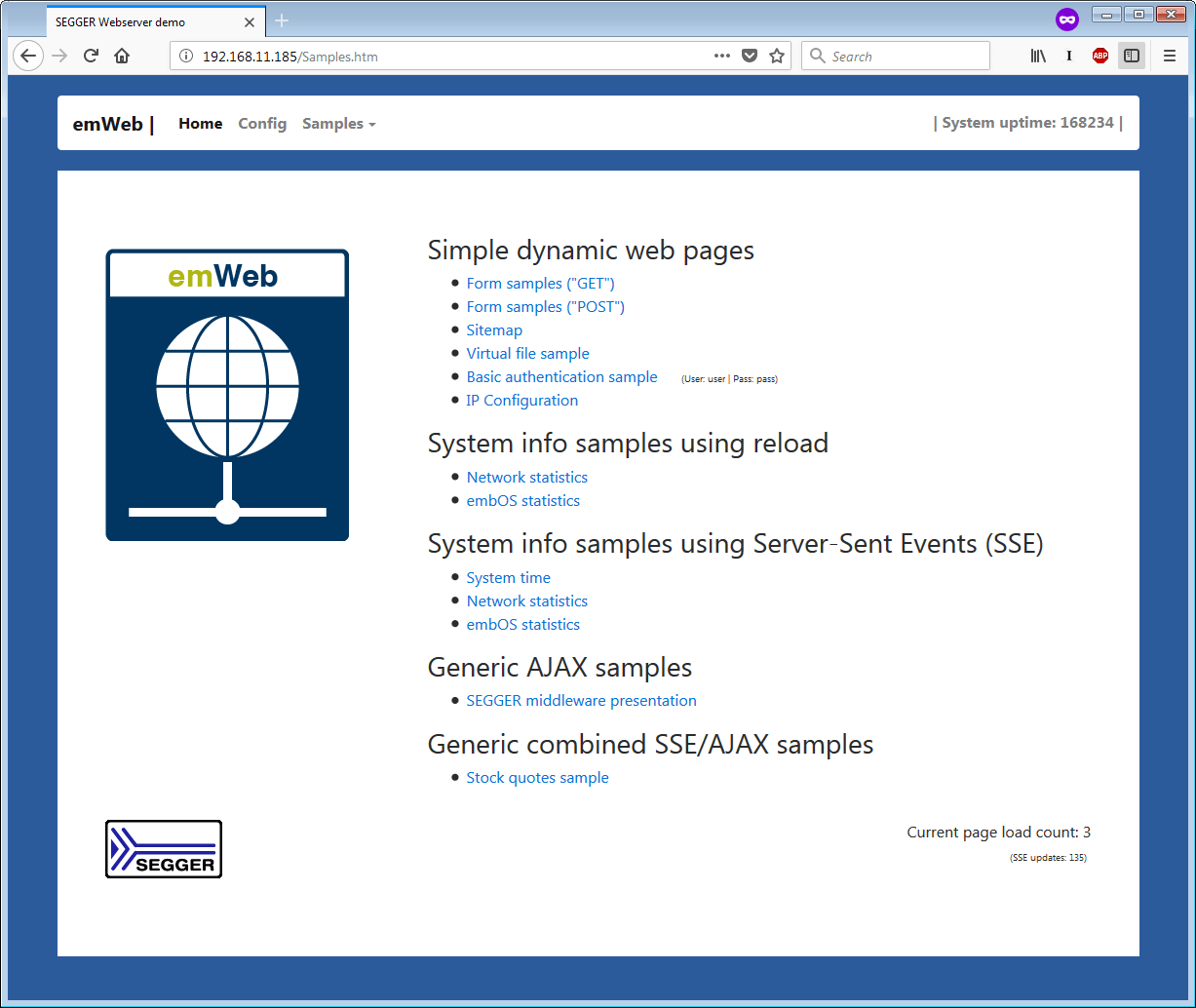 emWeb - The Embedded Web Server | SEGGER