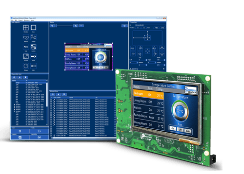 emWin AppWizard used to create smart home application